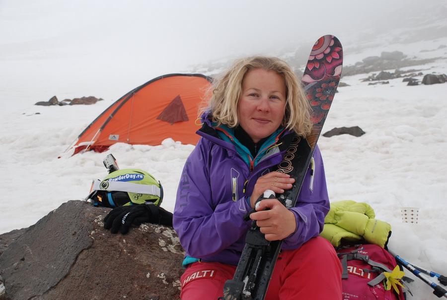 В лагере 2 после восхождения