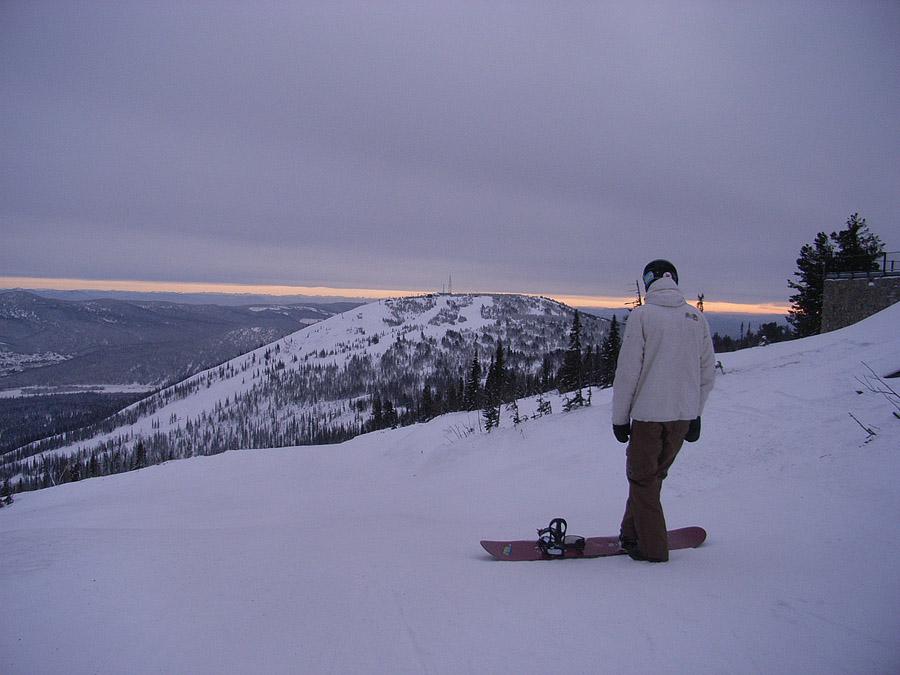 Закат над горой Зеленой п. Шерегеш