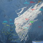 Схема югов Чегета от Игоря Комарова (snowadventure.ru)