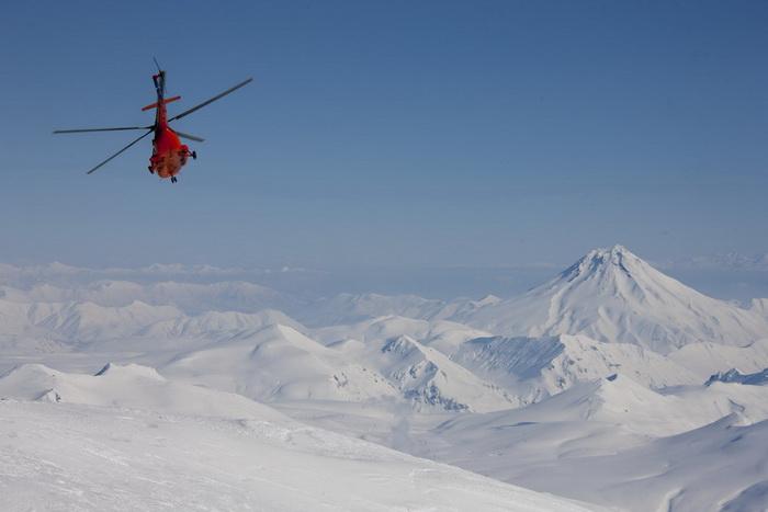 Вертолет на Камчатке