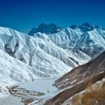 Вид на гору Чаухи из ущелья Сно