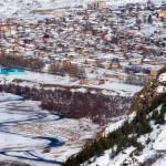 Вид на село Степанцминда из ущелья Сно_1