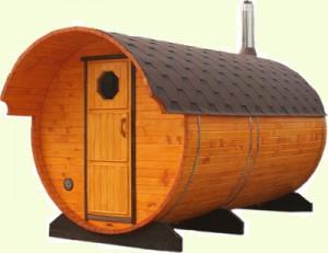 Перевозная баня бочка-отличное решение для горнолыжного курорта