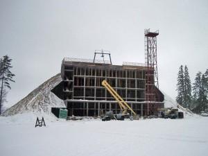 Строительные работы на горнолыжных курортах
