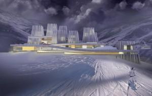 Строительство на горнолыжном курорте
