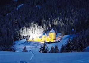 Снежная сказка на горнолыжном курорте