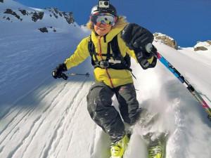 Как снимать видео, катаясь на лыжах?